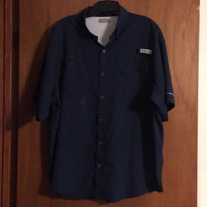 COLUMBIA PFG OMNI SHADE Navy Shirt XL